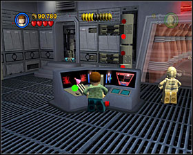 Go back to the previous room and this time go right - The Battle of Endor - Story Mode - Episode VI - LEGO Star Wars II: The Original Trilogy - Game Guide and Walkthrough