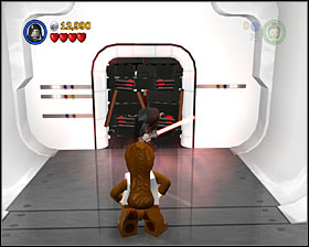 When you see the rebel soldiers for the first time, look to the right to see a Dark Force door - Secret Plans - Freeplay Mode - Episode IV - LEGO Star Wars II: The Original Trilogy - Game Guide and Walkthrough