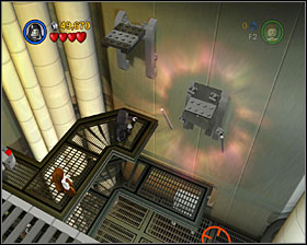 In the same room as #2, use the Force on the platforms on the wall - Secret Plans - Freeplay Mode - Episode IV - LEGO Star Wars II: The Original Trilogy - Game Guide and Walkthrough