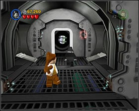In the bounty hunter area enter the corridor shown on the screenshot and then use all the pod-entrances to make white bricks fall out of them - Secret Plans - Freeplay Mode - Episode IV - LEGO Star Wars II: The Original Trilogy - Game Guide and Walkthrough