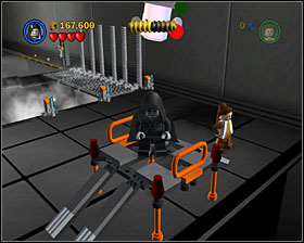 In the bounty hunter area use the detonator to destroy a shiny metal object and you'll get some bricks that can be made into a car - Secret Plans - Freeplay Mode - Episode IV - LEGO Star Wars II: The Original Trilogy - Game Guide and Walkthrough