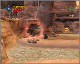 Near where you found #7, use the Dark Side on the object shown on the screenshot - Through the Jundland Wastes - Freeplay Mode - Episode IV - LEGO Star Wars II: The Original Trilogy - Game Guide and Walkthrough