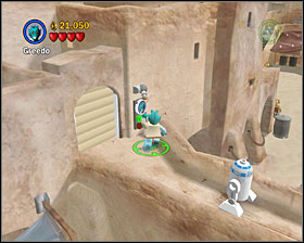 First you have to find 3 carrots that appear after destroying certain objects around the first area - Mos Eisley Spaceport - Freeplay Mode - Episode IV - LEGO Star Wars II: The Original Trilogy - Game Guide and Walkthrough