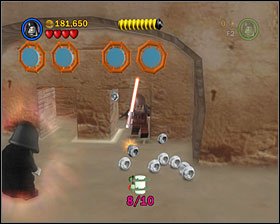 When you leave the Cantina, you'll come by a bounty hunter area - Mos Eisley Spaceport - Freeplay Mode - Episode IV - LEGO Star Wars II: The Original Trilogy - Game Guide and Walkthrough
