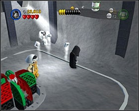 In the room with a carriage, just double jump toward the right wall - Escape from Echo Base - Freeplay Mode - Episode V - LEGO Star Wars II: The Original Trilogy - Game Guide and Walkthrough
