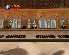 Near where you found #3, go further to find the three panels (2 for R2 and 1 for 3PO) - The Great Pit of Carkoon - Freeplay Mode - Episode VI - LEGO Star Wars II: The Original Trilogy - Game Guide and Walkthrough
