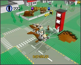 Around the place shown on the screenshot you'll find parts of a flying machine that you need to build - Bonus Features - Misc - LEGO Star Wars II: The Original Trilogy - Game Guide and Walkthrough