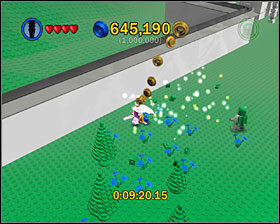 By walking around the lawn near the left end of the map you make flowers appear - Bonus Features - Misc - LEGO Star Wars II: The Original Trilogy - Game Guide and Walkthrough