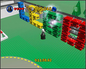 Use the Force to complete a LEGO sign in the right side of the city - Bonus Features - Misc - LEGO Star Wars II: The Original Trilogy - Game Guide and Walkthrough