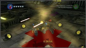 At the very beginning, fly left and use the booster [1] - Bounty Hunter Missions - p. 1 - Other - LEGO Star Wars III: The Clone Wars - Game Guide and Walkthrough