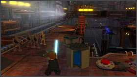 Fly there, push the button and activate the panel [1] - Bounty Hunter Missions - p. 1 - Other - LEGO Star Wars III: The Clone Wars - Game Guide and Walkthrough