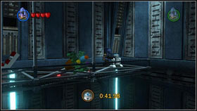 On the other side there's a long balcony [1], the droid is on its other side [2] - Bounty Hunter Missions - p. 1 - Other - LEGO Star Wars III: The Clone Wars - Game Guide and Walkthrough