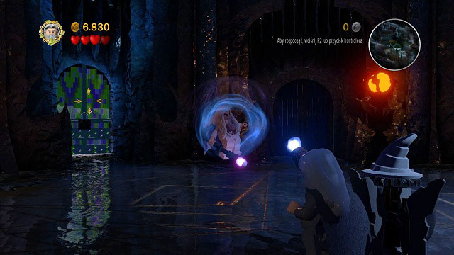When Saruman becomes tired, you will be able to raise him into the aim (K) and throw into a piece of the environment - The Black Rider - Walkthrough - Act I - LEGO The Lord of the Rings - Game Guide and Walkthrough