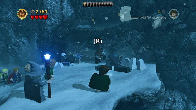 You will have to carry Gimli above the deep snow again - The Pass of Caradhras - Walkthrough - Act I - LEGO The Lord of the Rings - Game Guide and Walkthrough