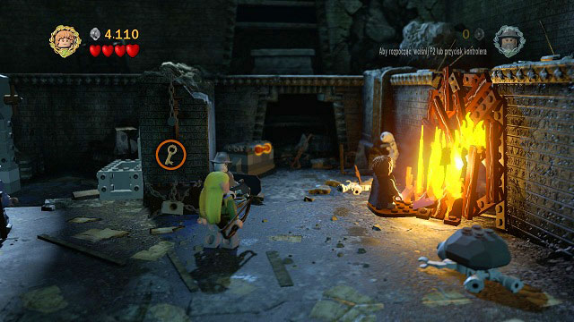 To obtain the cog, you have to head to the right side of the room - The Mines of Moria - Walkthrough - Act I - LEGO The Lord of the Rings - Game Guide and Walkthrough