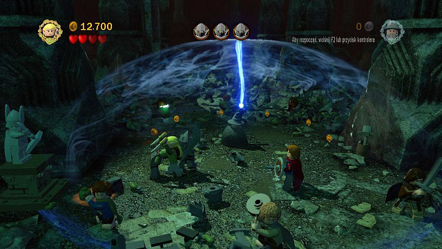 Now you will have to protect Gandalf from the horde of Orcs - The Mines of Moria - Walkthrough - Act I - LEGO The Lord of the Rings - Game Guide and Walkthrough
