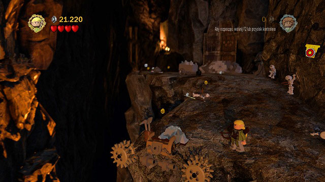 After regaining control over your team, you should head to the right - The Mines of Moria - Walkthrough - Act I - LEGO The Lord of the Rings - Game Guide and Walkthrough