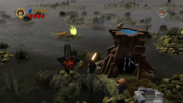 By the sixth wall of flame - The Dead Marshes - Collectibles - LEGO The Lord of the Rings - Game Guide and Walkthrough
