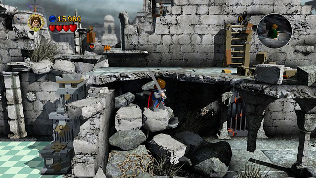 The location closer to the camera - Osgiliath - Collectibles - LEGO The Lord of the Rings - Game Guide and Walkthrough