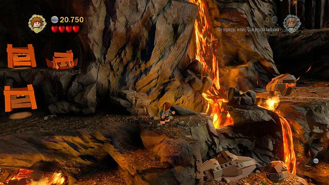The rock with the orange handle is visible far on the right side - Mount Doom - Collectibles - LEGO The Lord of the Rings - Game Guide and Walkthrough
