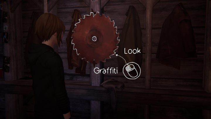 Another spot is located inside the mill, where the show is taking place - All Graffiti in Episode 1 Life Is Strange: Before The Storm - Episode 1 - Awake - Life Is Strange: Before the Storm Game Guide