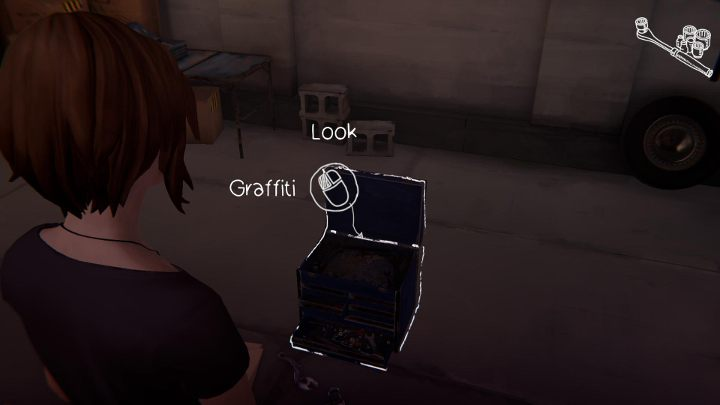 The fourth one can be written on Davids toolbox - All Graffiti in Episode 1 Life Is Strange: Before The Storm - Episode 1 - Awake - Life Is Strange: Before the Storm Game Guide