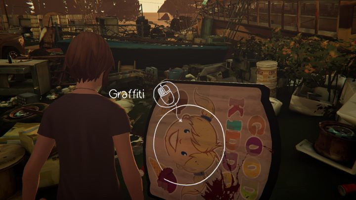 After you do that, youll be able to take the ninth graffiti - All Graffiti in Episode 1 Life Is Strange: Before The Storm - Episode 1 - Awake - Life Is Strange: Before the Storm Game Guide