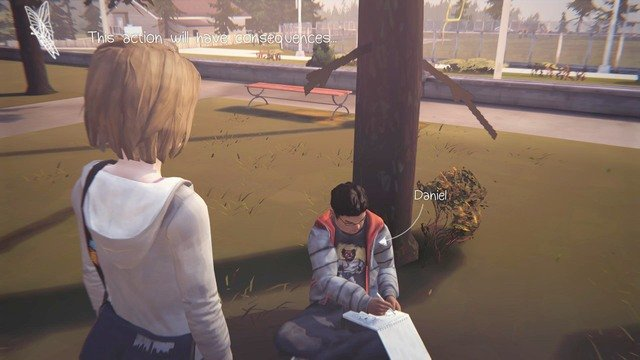 The first decision is in the moment of your conversation with Daniel - Decisions | Episode 1: Chrysalis - Choices and decisions - Life is Strange Game Guide & Walkthrough