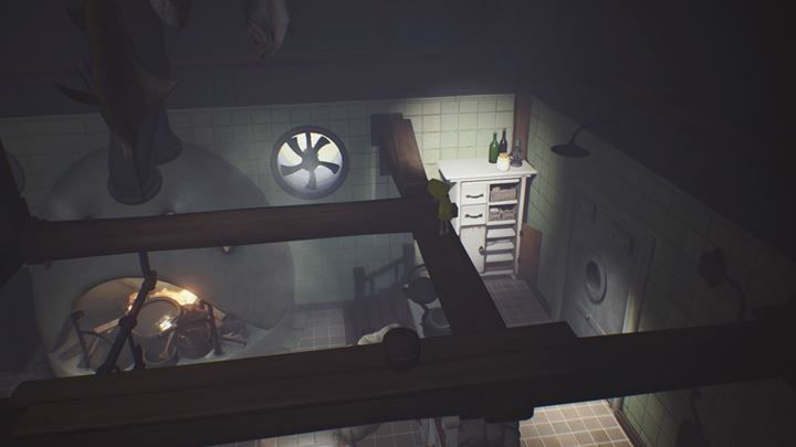 Use the beams to cross to the other side. - First meeting with the cook | The Kitchen - The Kitchen - Little Nightmares Game Guide