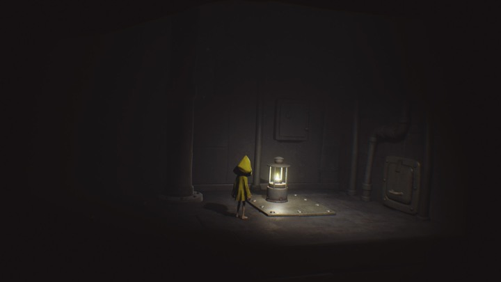 Light up the lamp and go right. - Beginning (The Prison) - The Prison - Little Nightmares Game Guide