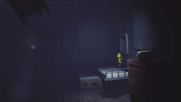 Get on the bed and go across the shaft. - Beginning (The Prison) - The Prison - Little Nightmares Game Guide