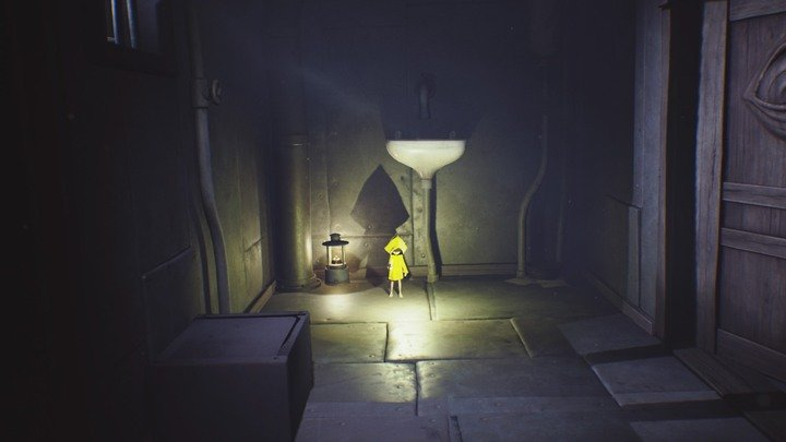 Light up the lantern and continue right. - The fall (The Prison) - The Prison - Little Nightmares Game Guide