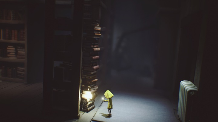 Follow the carpet and use books to climb - The room with clocks and the library (The Lair) - The Lair - Little Nightmares Game Guide