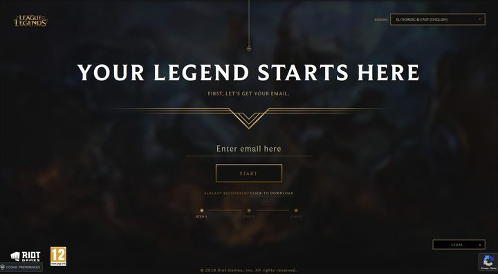 The Registration Process And Choice Of Region Basic Gameplay League Of Legends Game Guide Gamepressure Com