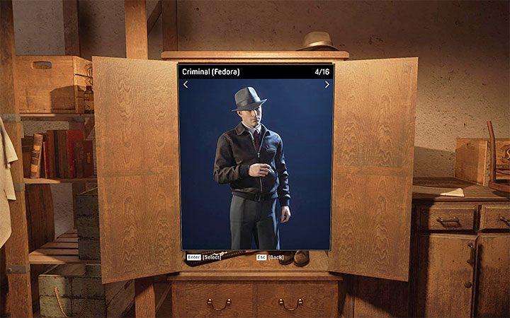 Криминал - Вы можете выбрать версию с головным убором или без - Как изменить внешний вид персонажа?  - Mafia 1 Remake - руководство, решение