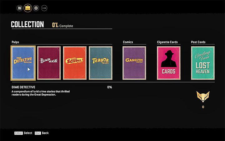 Все секреты хранятся в одной из вкладок меню паузы - Типы секретов - Mafia 1 Remake - руководство, прохождение