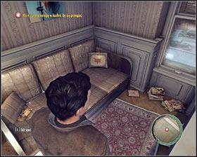 شما هم اکنون می باید به آپارتمان جو بازگشت، به طوری ادامه به درب قرمز و سپس با استفاده از راه پله - فصل 2 - خانه شیرین خانه - ص 3 - خرید - مافیا II - بازی راهنمای خرید و