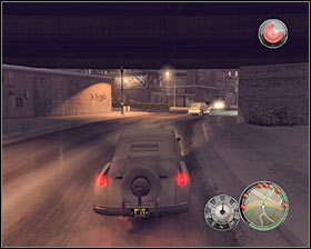 Reaching the first gas station (1 on the map) should only take you a five minutes (in the game, not in real life ;-)) #1 - Chapter 3 - Enemy of the State - p. 4 - Walkthrough - Mafia II - Game Guide and Walkthrough