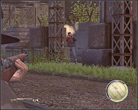 شروع کردن با از بین بردن دشمن ایستاده بر روی یک بالکن کوچک # 1، چرا که او را یک تهدید جدی برای ایمنی خود را مطرح - فصل 8 - آنهایی که وحشی - ص 2 - خرید - مافیا II - بازی راهنمای خرید و