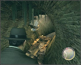 Head towards the river, turn around and find a metal gate #1 - Chapter 9 - Balls and Beans - p. 2 - Walkthrough - Mafia II - Game Guide and Walkthrough