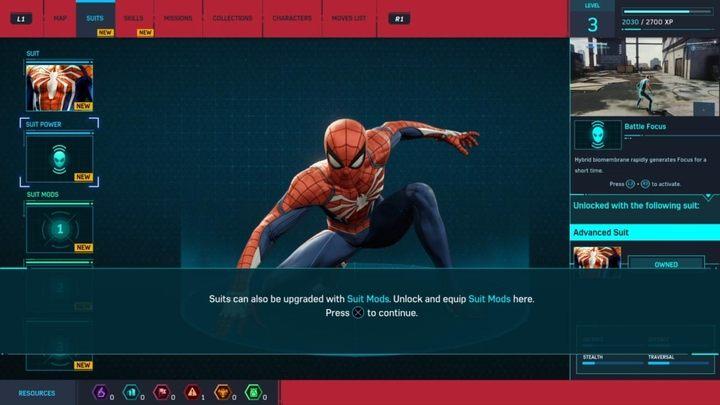 List of all Marvel's Spider-Man suit upgrades - Marvel's