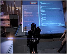The second terminal can be found inside the Eternity bar (first screenshot), near the Bartender - Walkthrough - Illium: Liara TSoni - Main quests - Mass Effect 2 - Game Guide and Walkthrough