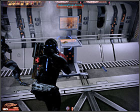 Make sure that you've eliminated all hostile units and proceed towards a door seen in the distance (first screenshot) - Walkthrough - The Reaper IFF - Main quests - Mass Effect 2 - Game Guide and Walkthrough