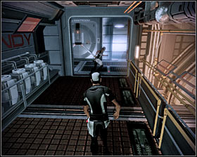 Go to the opposite end of the laboratory and you should be able to find a ladder (first screenshot) - Walkthrough - The Reaper IFF - Main quests - Mass Effect 2 - Game Guide and Walkthrough