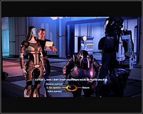 Description: This quest can be activated in a similar way to Krogan Sushi, because all you have to do is to find a group of NPC's on the 26th level of [Citadel - Zakera ward] (first screenshot) and listen to their conversation for a few seconds - Side quests - Citadel - Side quests - Mass Effect 2 - Game Guide and Walkthrough