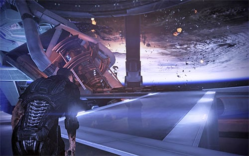 If you intend to destroy all synthetic life in the galaxy (including the Reapers), then you must choose the right ramp (screen above) - Endings - Mass Effect 3 - Game Guide and Walkthrough