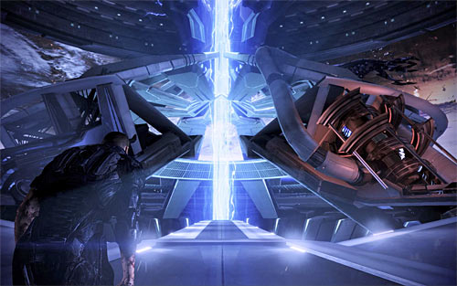 If you intend to perform a synthesis (merge organic and synthetic life), then you must choose a path located directly in front of you (screen above) - Endings - Mass Effect 3 - Game Guide and Walkthrough