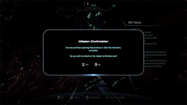 Head back to the Civki system and approach the Khi Tasira station that you visited in the previous main storyline quest - Meridian: The Way Home | Priority Ops - Priority Ops (Main quests) - Mass Effect: Andromeda Game Guide