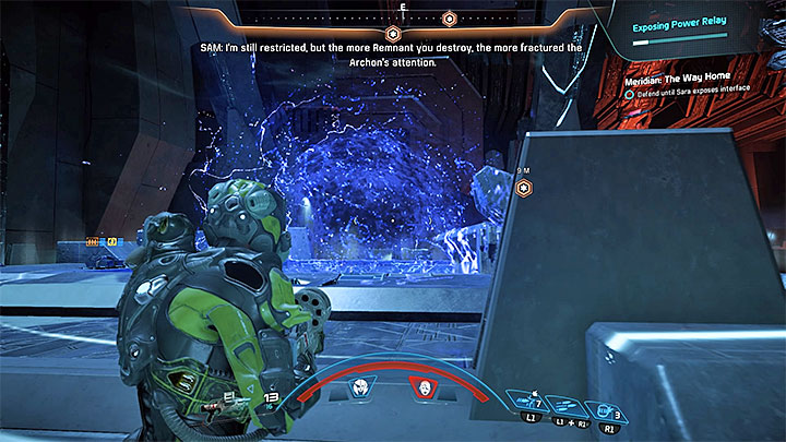 Before you proceed to further combat, read the information below - How to defeat the final boss in the heart of Meridian? | Boss fights | Walkthrough - Boss battles - Mass Effect: Andromeda Game Guide