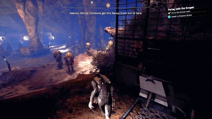 Right next to the throne room. - Parlay with the Krogan | Elaaden - Elaaden - Mass Effect: Andromeda Game Guide